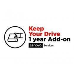 Lenovo Keep Your Drive Add On - Prodloužená dohoda o službách - 1 rok - pro ThinkStation P310 30AS, 30AT, 30AU, 30AV; P410 30B2, 30B3
