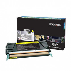 Lexmark originální toner 24B5703, yellow, 10000str., high capacity, return, Lexmark XS748, XS748de, O